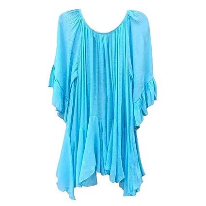 Mujer y Niña otoño fashion fiesta,Sonnena ❤ Camisa de volantes bohemios de la