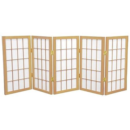 Oriental Furniture 2 ft Tall Desktop Window Pane Shoji Screen