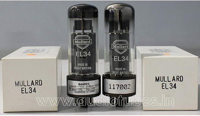 1x EL34 Power Output Pentode xf3 70/'s Mullard BVA Blackburn British Electrically TESTED TUBE 6CA7 6\u041f27\u0421