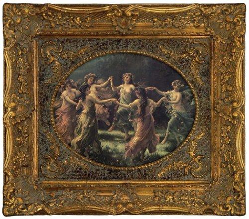 Fairy Framed Print - Victorian Trading Co. Circle of Joy Fairy's Dancing Framed Print