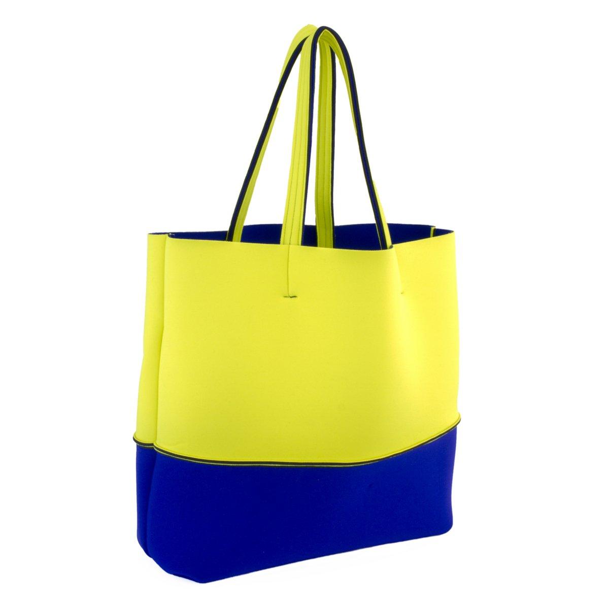 Leghila , Borsa da spiaggia multicolore YellowBlue: Amazon
