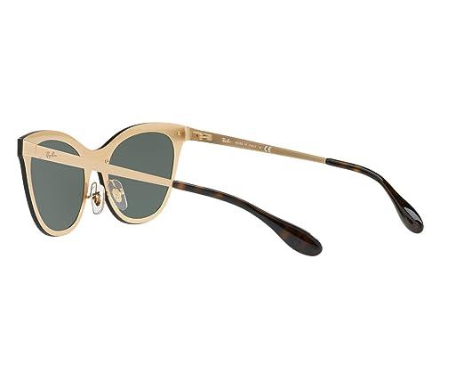 5fb05f3d36 Ray-Ban Damen Sonnebrille Gold Goldfarben matt 43  Amazon.de  Bekleidung