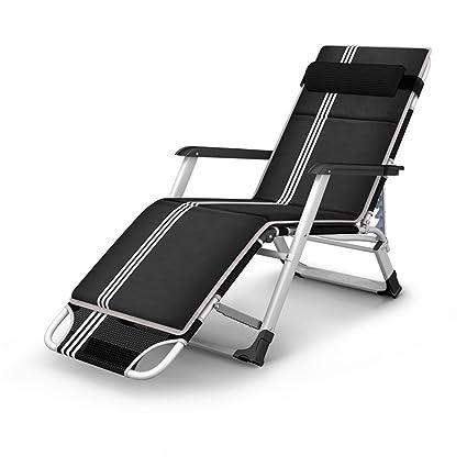 Reclinables Tumbonas Sillas Plegables Sillas reclinables Sillas de Relax Silla de Ocio Zero Gravity Almohada Desmontable