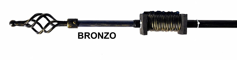 Bronzo CASA TESSILE Aladin Bastone estendibile per tendone da 120 a 210 cm