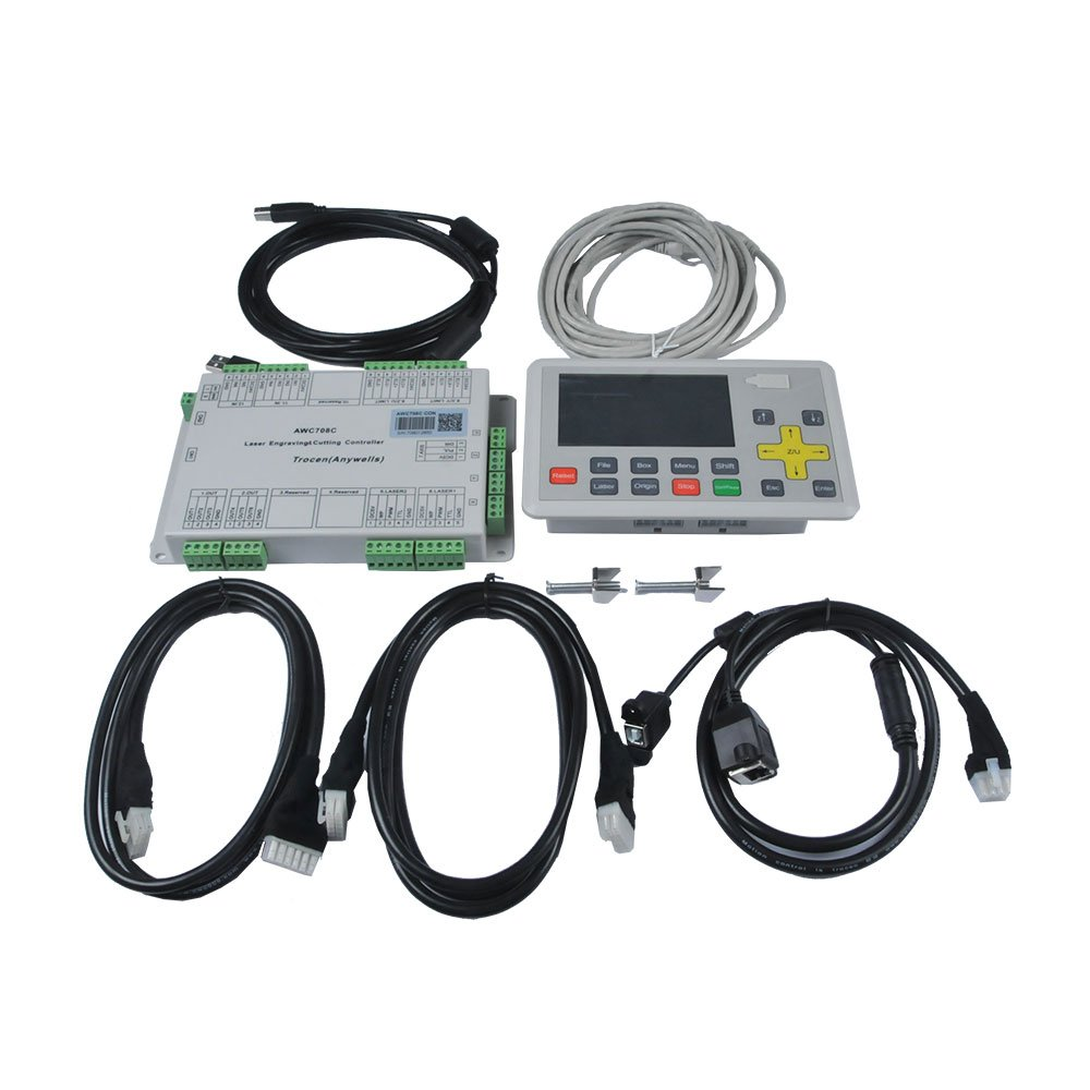Anywells AWC708C LITE Laser Controller System for CO2 Laser  Cutting/Engraving System