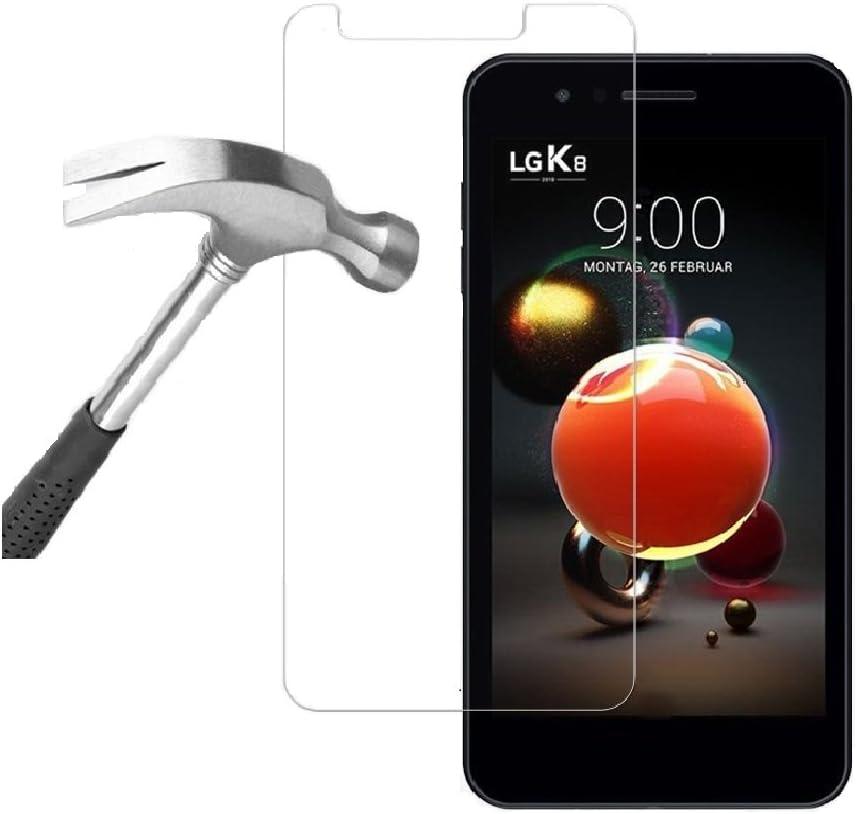 Tech® Protector de pantalla de cristal templado para LG K8 2018 (1 ...