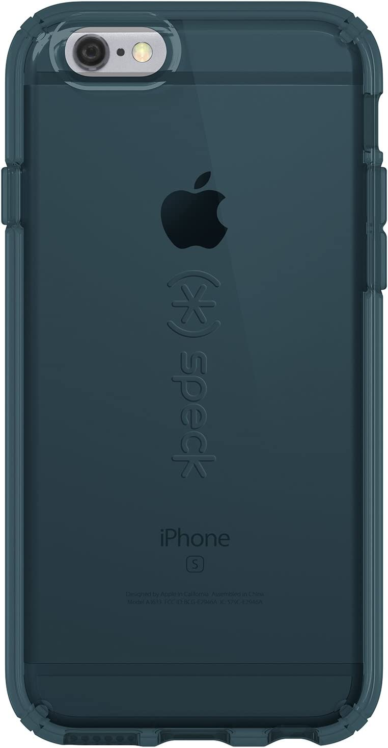 Speck Products CandyShell Clear Case for iPhone 6 Plus/iPhone 6s Plus, Rainstorm Blue
