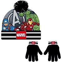 CERDÁ LIFE'S LITTLE MOMENTS Conjunto Gorro y Guantes de The Avengers - Licencia Oficial Marvel, negro, talla única…