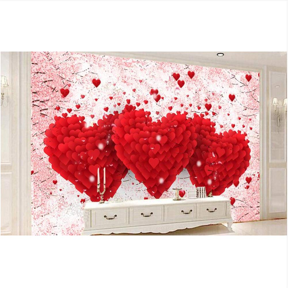 Decoración Del Corazón Pintura Mural De La Pared 3D