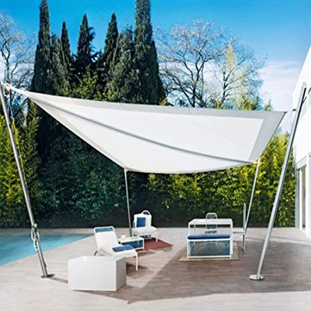 Toldos CJC Impermeable Jardín Sun Shade Sail Pabellón Bloque UV 98%, Patios Piscinas, BBQ El Sombreado Neto (Color : Off White, Size : 3x4m): Amazon.es: Hogar