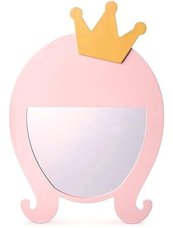 Amazon.com: Qutool Princess Decorative Wall Mirror Kids Mirrors Pink ...