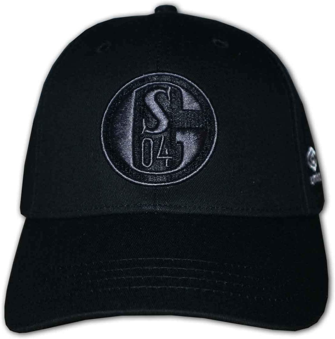 Umbro FC Schalke 04 Black 3D Cap S04 Fan Basecap verstellbar Einheitsgröße