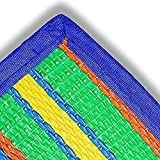 Beach Mat Lightweight Foldable Design Easy To Carry And Store Suitable For Multiple Family Activities Weather Proof Mat Color Blue Green Yellow Orange By TSR