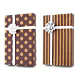 Gold + Copper + Silver Designer Wrapping Paper Set: 4 Rolls (8 Designs) of Premium Gift Wrap (80 sq. ft.) with 29 Coordinated Bows, 2 Spools of Ribbon, and 24 Gift Tags