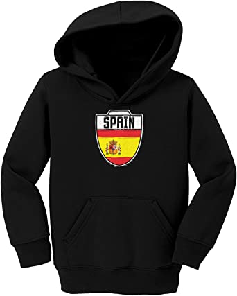 Country Soccer Crest Toddler//Youth Fleece Hoodie Spain