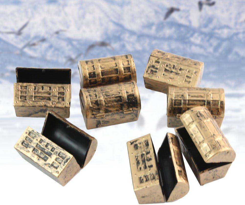 Toyvian 12pcs Mini Cofre del Tesoro de la Caja del Tesoro cofres del Tesoro Vintage Caja de Almacenamiento niños Juego de Piratas Set favores del Partido: Amazon.es: Juguetes y juegos