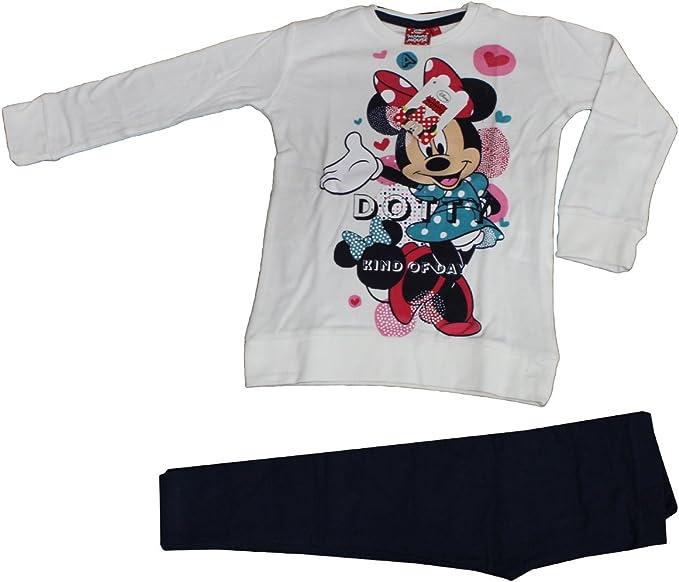 Ruso Tejidos Pijama Niña Chándal Niña Disney Minnie Ratón Blanco ...