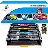 True Image 4Pack Compatible HP 201X CF400X 201A CF400A Toner Cartridge for HP M277dw M252dw HP Color Laserjet Pro MFP M277dw M277n M277c6 M277 M252 M252n M252dw Printer Ink CF400X CF401X CF402X CF403X