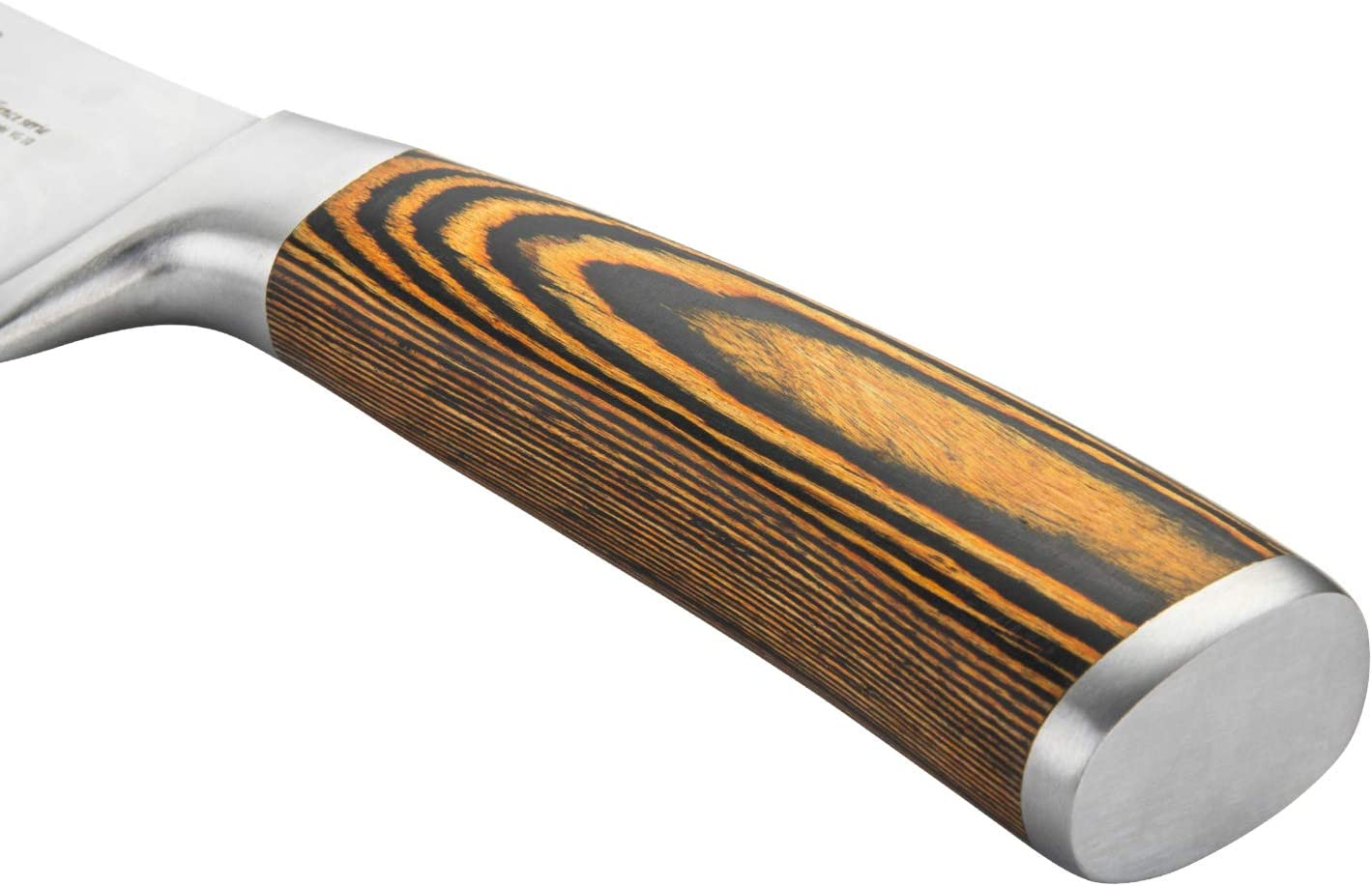 SINLY Damastmesser 20cm-Klinge Profi Japanisches Kochmesser Chefmesser VG-10 67 Lagig Micarta-Handgriff Holzstil