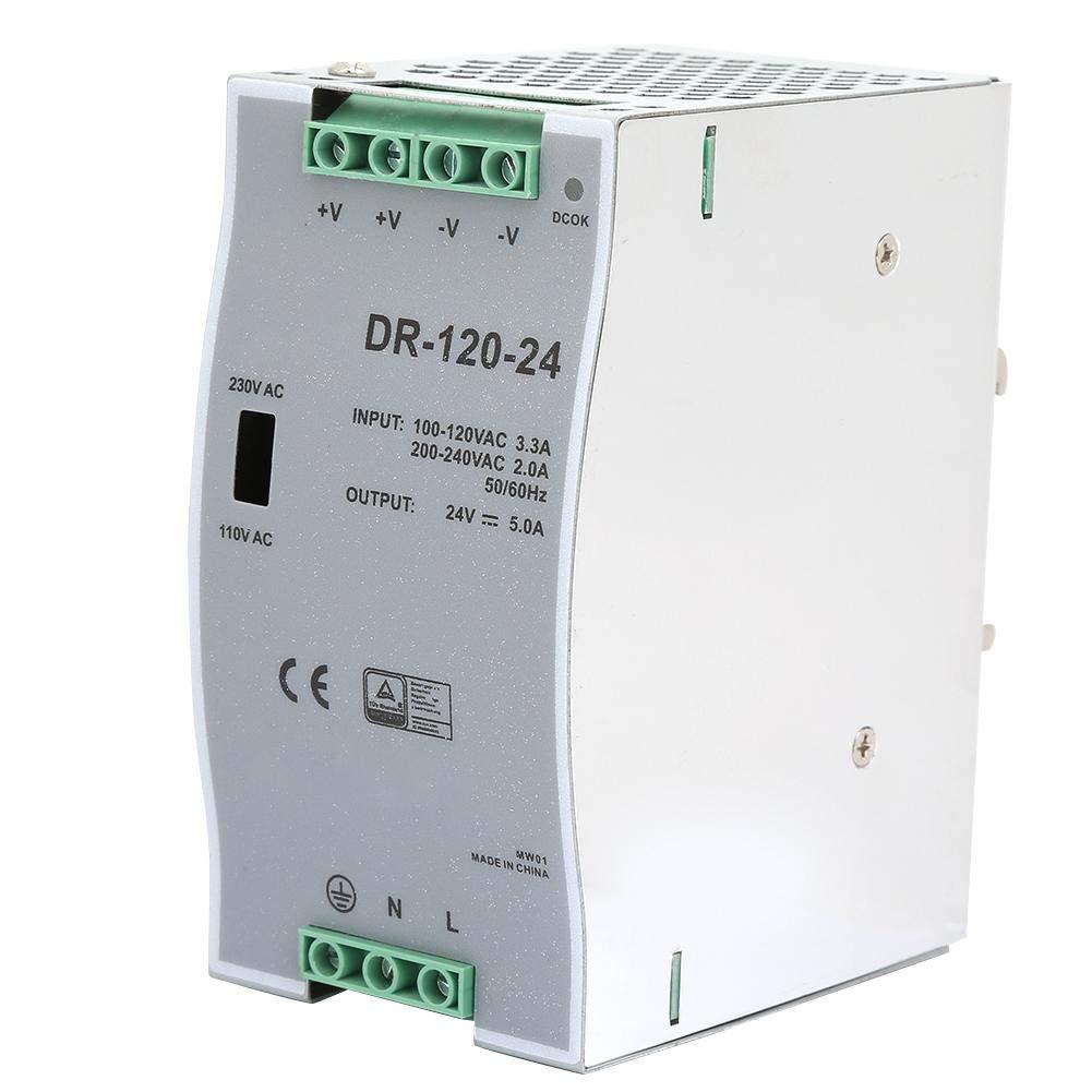 Fuentes de alimentación Fuentes de alimentación, modulación de ancho de pulso, CA/CC 100~240V Entrada-24V Salida Carril de guía de 35 mm Fuentes de salida de señal de conmutación 5A 120W