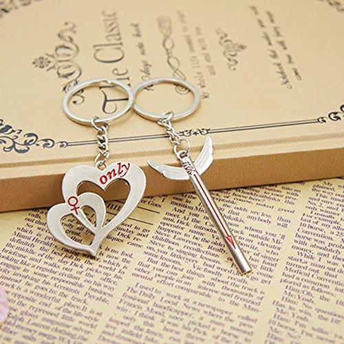 Amazon.com: UltraZhyyne(TM)Lovers Keychain Love Heart and ...