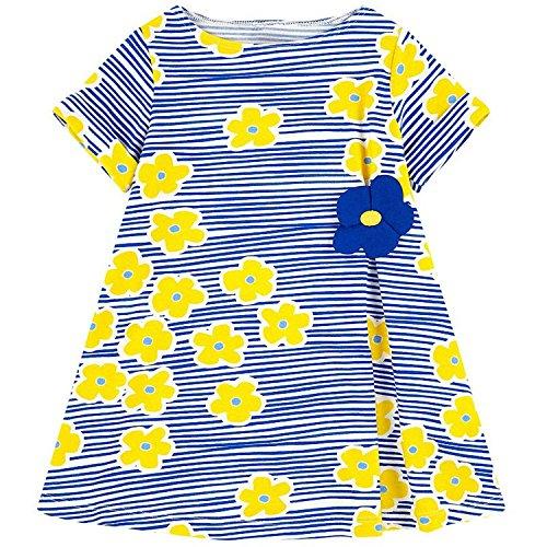 Doris Batchelor Elegant Baby Girls Summer Dress Floral Princess Costume Kids Party Dresses for Girls Clothes Toddler Dress 90 -
