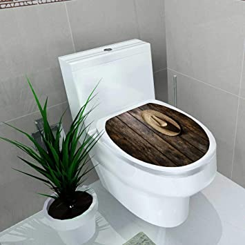 Sensational Amazon Com Auraise Home Toilet Seat Decal Vinyl American Uwap Interior Chair Design Uwaporg