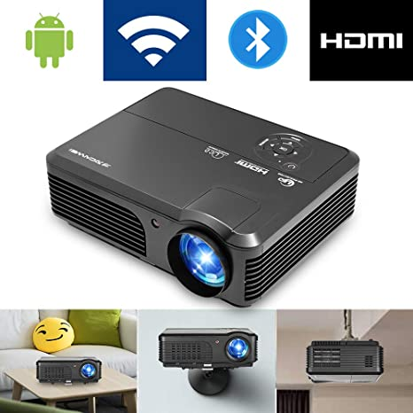 Bluetooth Wifi Proyector 4200 lúmenes, 1080p Proyector LED ...