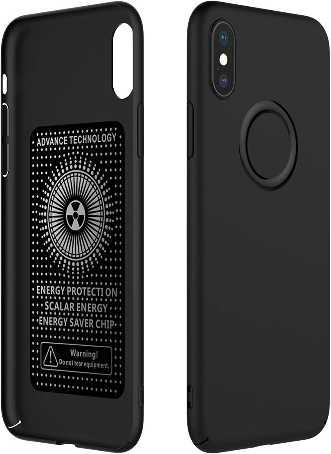 YUEKAI iPhone Xs Max Case, Anti Radiation Cell Phone Case, 99% EMF Protection and Negative Ion Energy, Full Body Protection Ultra Slim Hard Case Cover for Apple iPhone Xs Max 6.5 Inch - Black