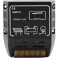 Controlador de Carga Solar 12V, Controlador Fotovoltaico de Carga Solar de 10 A, Regulador de Batería de Identificación Automática