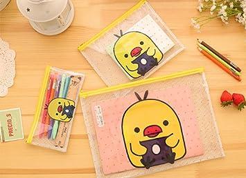 a5b20fd34a8 ZMvise Letter A4 Paper File Folder Pockets Premium Poly Cute Fashion Kawaii  Cartoon Animal Pattern Duck