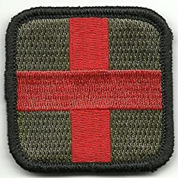 Medic Cross Tactical Patch - Olive & Red by Gadsden and Culpeper