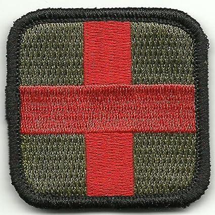 Amazon.com  Gadsden and Culpeper Medic Cross Tactical Patch - Olive ... b007719b60b