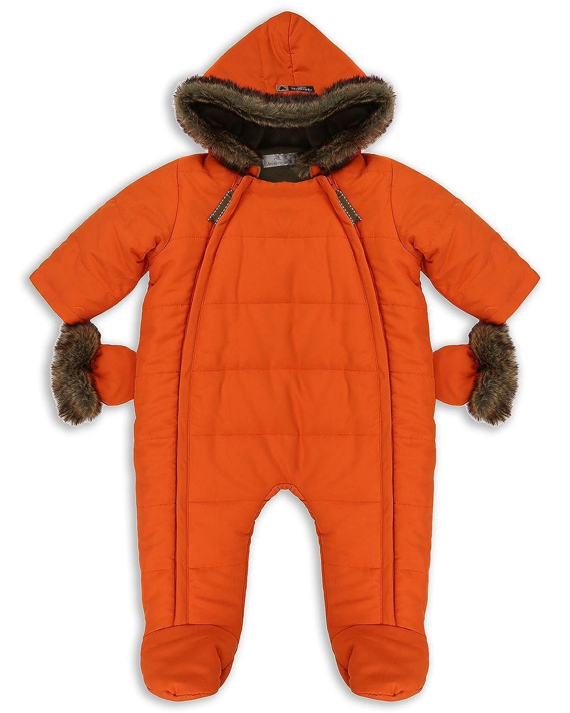 The Essential One - Bebé Pelaje Sintética Snowsuit / Traje de Esquí - Naranja - EO259