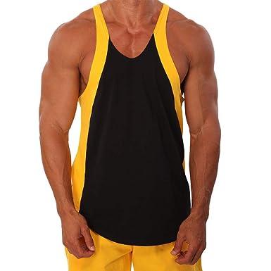 KUKICAT - Camiseta sin Mangas para Hombre Amarillo L: Amazon.es ...