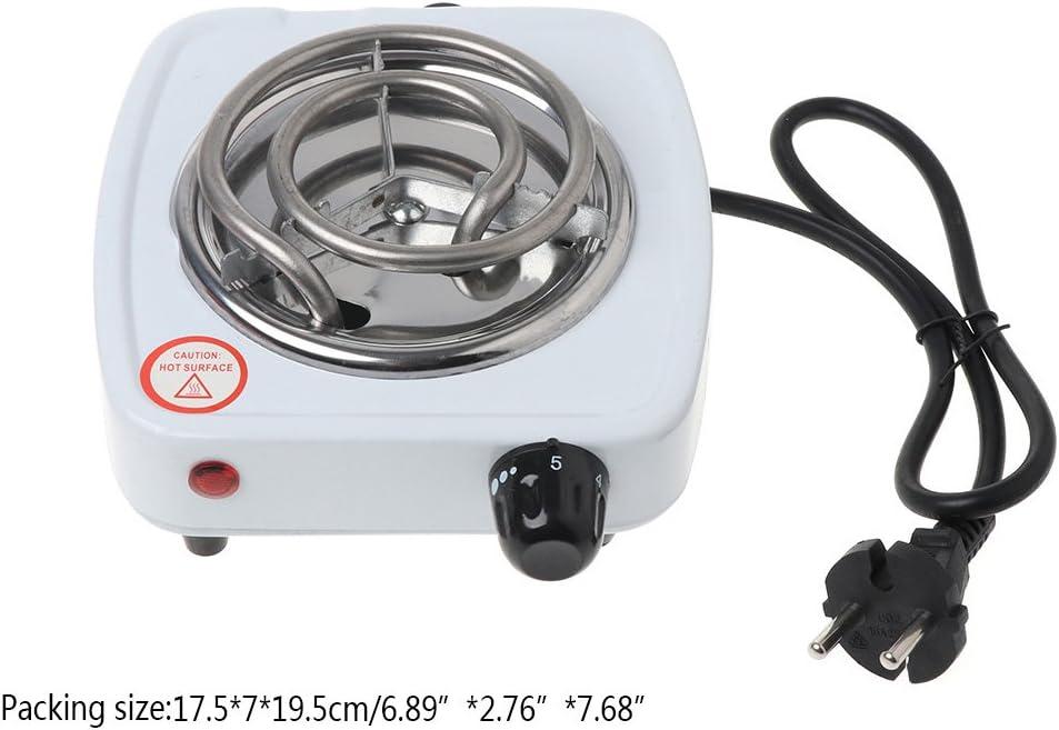 BUIDI 500W Estufa el/éctrica Quemador de Placa Caliente Aparatos de Cocina de Viaje Calentador port/átil