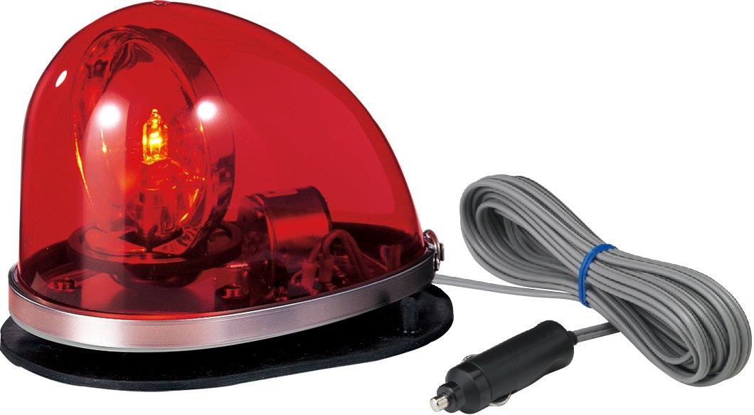 パトライト 流線型回転灯 ゴムマグネット着脱式 DC24V 赤 HKFM-102G-R B01A80OCW8 赤 赤