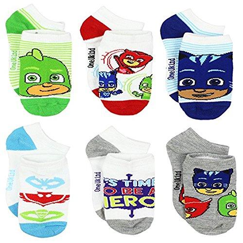 PJ Masks Boys Girls 6 pack Socks (4-6 (Shoe: 7-