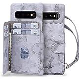 Homelove Samsung Galaxy S10 Case,Galaxy S10 Wallet Case, [Premium PU Leather][Card Slots][Detachable Hand Strap],Slim Scratch
