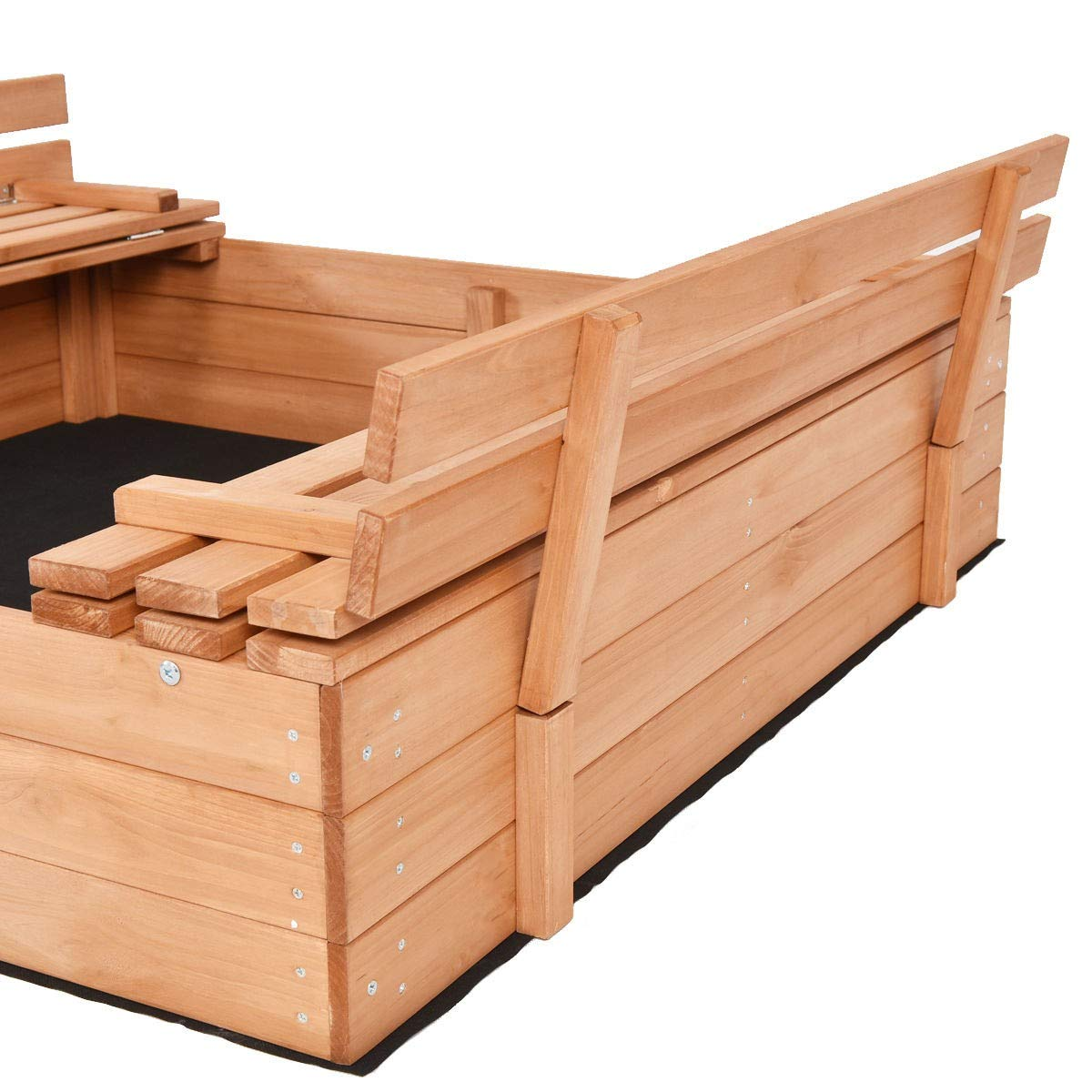 USA_BEST_SELLER Children Outdoor Foldable Retractable Sandbox Bench Seat Box by USA_BEST_SELLER (Image #6)