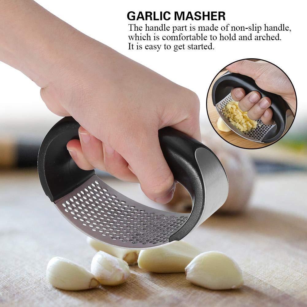 Garlic Press Stainless Steel Crusher Squeezer Masher Home Kitchen Mincer Tool Rustproof Dishwasher Safe