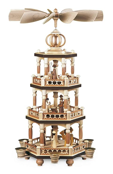 Christmas Pyramid.Amazon Com Mueller 4 Level Infinity Dome Christmas Pyramid