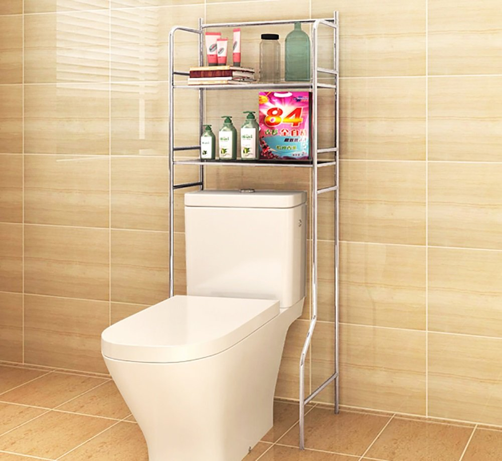 Couches doubles Étagère de toilette Ensemble de lavabo Salle de bain Rangement Étagère Machine à laver Étagère avec