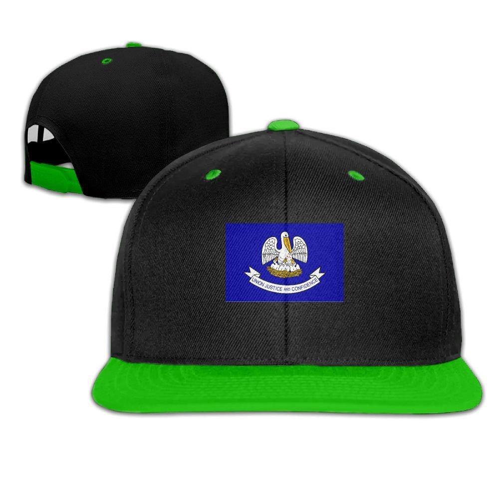 Humaoe Louisiana State Flag Fashion Peaked Baseball Caps//Hats Hip Hop Cap Hat Adjustable Snapback Hats Caps for Unisex