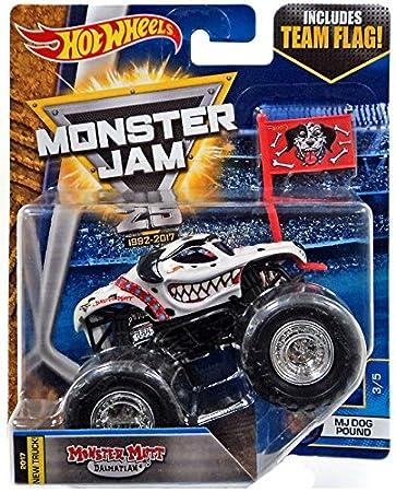 Monster Truck Dog >> Hot Wheels Monster Mutt Dalmatian Truck 2017 New Truck Team Flag Series Monster Jam Dog Pound