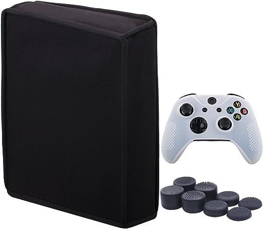 9CDeer Neopreno Suave Polvo de Tierra Cubierta Protectora Dust Cover Negro para Xbox One X Versión