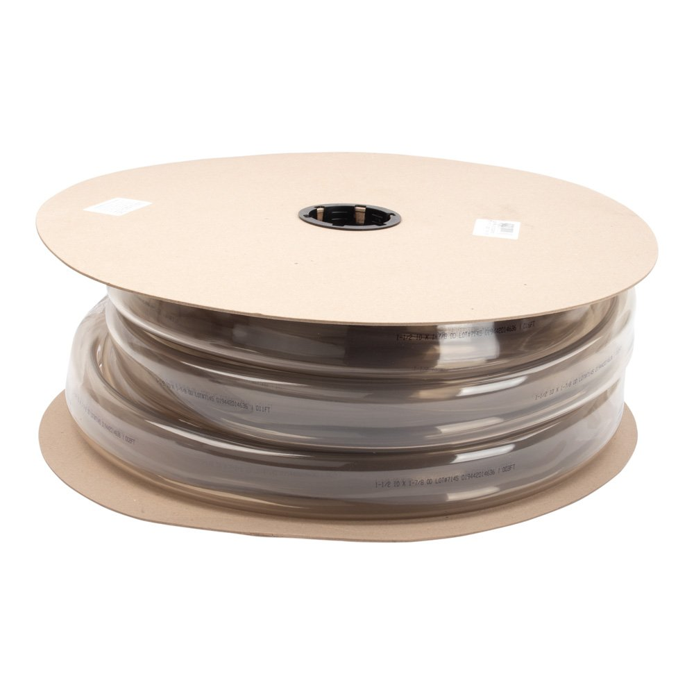 1-1/2'' X 1-7/8'' Clear Vinyl Tubing by LDR | Durable, Non-Toxic, Lay-Flat Hose, 50-Foot Spool