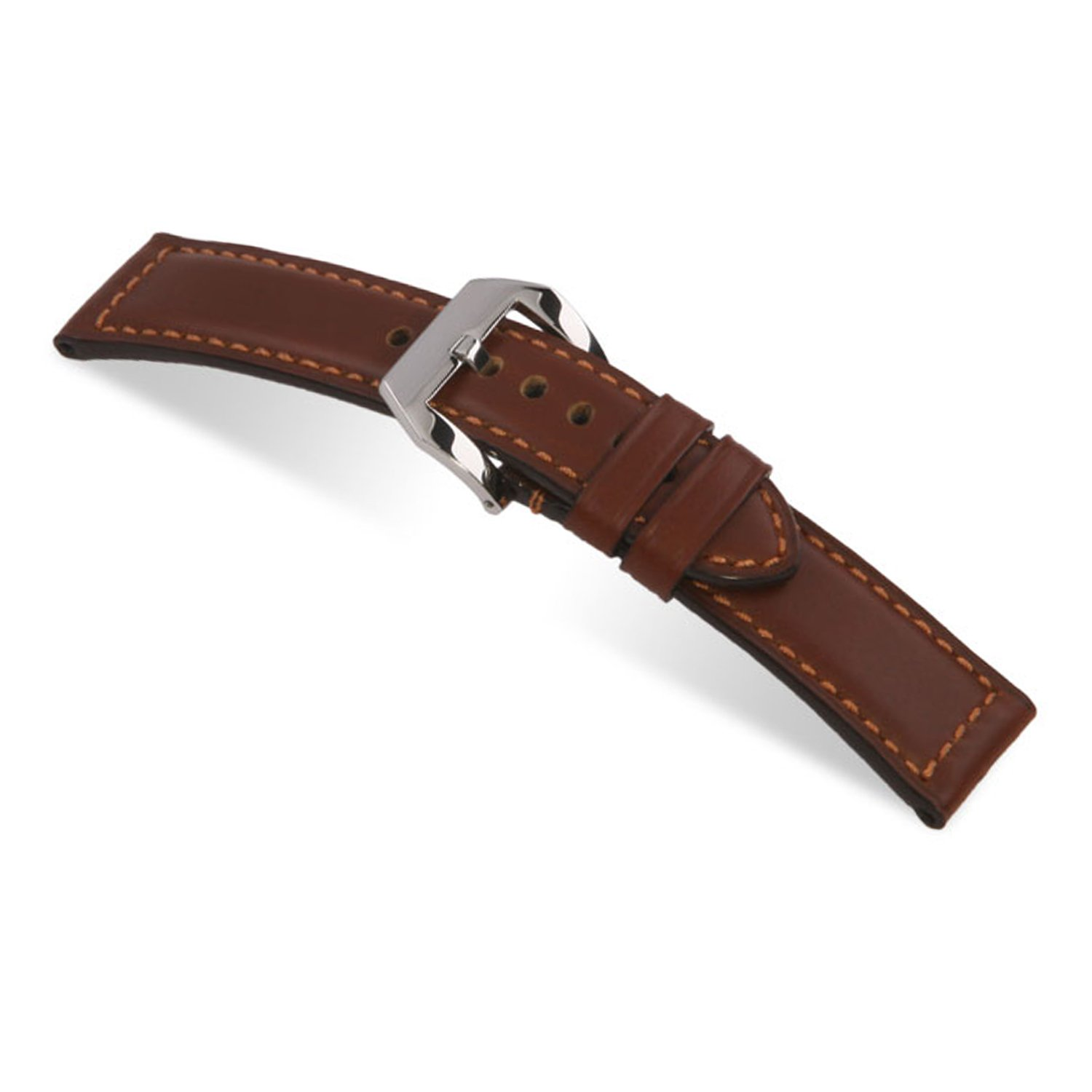 rios1931 Milano – 純正防水レザーWatch Band with Attached pre-v Buckle for Panerai Watches 115 x 75 24x24mm マホガニー  マホガニー 24x24mm B074CJF1FN