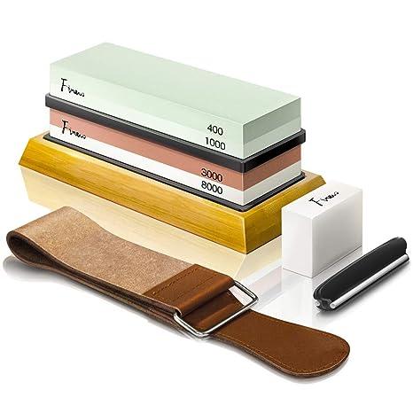 Amazon.com: Kit de afilado de cuchillos de piedra de afilar ...
