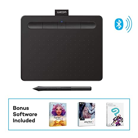 Wacom Intuos Wireless Graphics Drawing Tablet with 3 Bonus Software  Included, 7 9